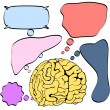 Human brain thinking - Stock Vector