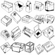 Stock Vector: Box sketches
