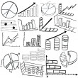 Statistic graphs sketch - Stock Vector