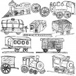 Train sketch elements — Stock Vector
