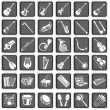 Musical instruments icons — Vector de stock #18541821