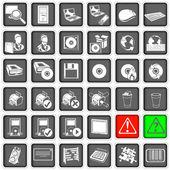 Iconos web 2 — Vector de stock