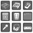Music equipment icons — Stock Vector
