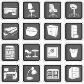 Büromöbel — Stockvektor