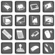 Computer icons 3 — Stock Vector