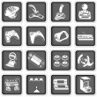 Computer icons 4 — Stock Vector