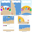 Beach template design — Stock Vector #23542363