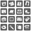 Press icons — Stock Vector