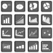 Stock Vector: Statistic graph icons