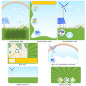 Green technology template — Stock Vector