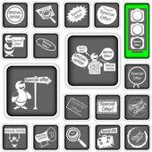 Speciale aanbieding pictogrammen — Stockvector