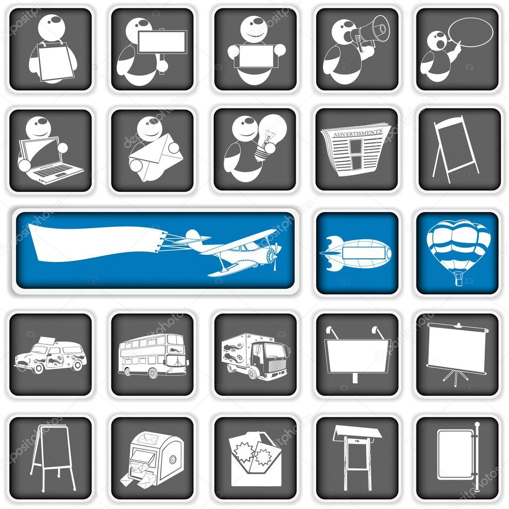 Advertising Icons Png Squared Advertising Icons