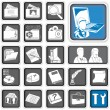 Stock Vector: Admin icons.