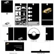 Royalty-Free Stock Vectorielle: Black and white template design.