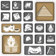 Archeology squared icons — Stock Vector #25144443