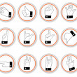 Hand button icons - Stock Vector