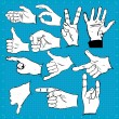 Hand gestures and symbols - Stock Vector