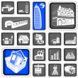 Royalty-Free Stock Vector Image: Real estate squared icons