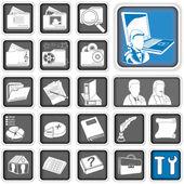 Admin icons. — Stock Vector