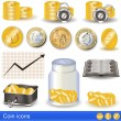 Stock Vector: Coin icons