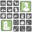 Farm icons — Stock Vector