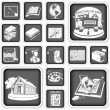 Royalty-Free Stock Vector Image: School squared icons