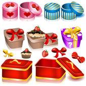 Decoration box icons 2 — Stock Vector
