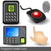 Fingerprint reader icons — Stockvector