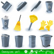 Cleaning icons — Stock Vector #2868254