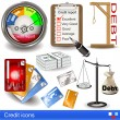 Stock Vector: Credit icons