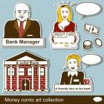 Money comic art collection 2 — Stock Vector