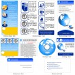 Online-Business-Template-design — Stockvektor