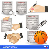 Contract icons — Stock Vector
