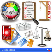 Credit icons — Stock Vector