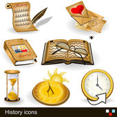 History icons — Stock Vector