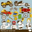 Racing car vector set — Stok Vektör #30990567