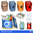 Recycle bin set — Stock Vector