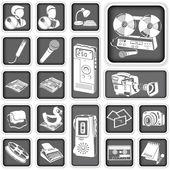 Muhabir düğme kümesi — Stok Vektör