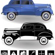 Vintage car set 3 — Stock Vector