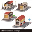 Isometric buildings — Stock Vector
