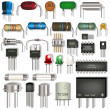 Electronic components — Stock Vector