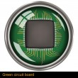 Green circuit board — Stock Vector