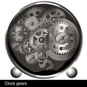 Clock gears — Stock Vector