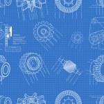 Blueprint gears seamless — Stock Vector #33555735
