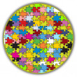 colorful round puzzle — Stock Vector