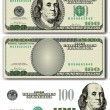 Stock Vector: Vector 100 Dollar bill