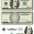 Vector 100 Dollar bill — Stock Vector #35030955