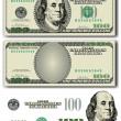 Vector 100 Dollar bill — Stock Vector