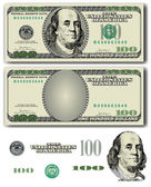 Vector 100 Dollar bill — Vetorial Stock