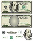 Vector 100 Dollar bill — Vetorial Stock